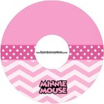 Etiqueta CD DVD Minnie Rosa