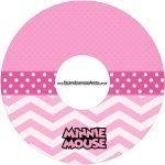 Etiqueta CD DVD Minnie Rosa