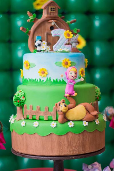 Créditos: @Festa da Cecilia enviada pela leitora Lorena Oliveira Ideias para Festa Infantil Masha e o Urso