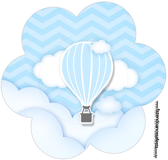 Flor Balão de Ar Quente Azul