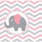 Lata de leite Elefantinho Rosa e Cinza Chevron