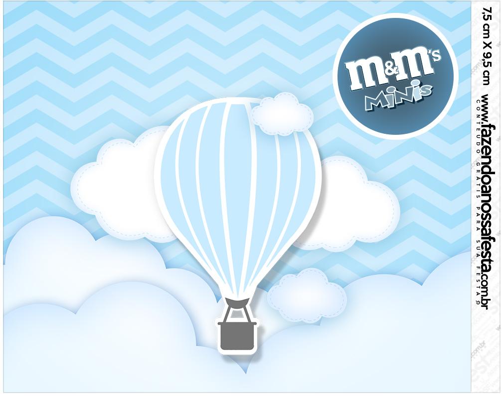 Mini MeM Balão de Ar Quente Azul