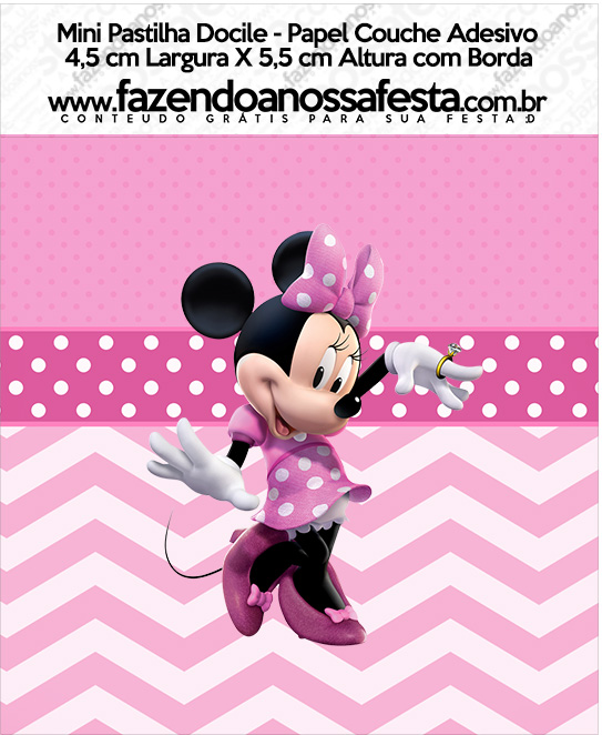 Mini Pastilha Docile Minnie Rosa