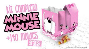 Minnie Rosa Kit Festa Grátis