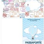 Molde Passaporte Balão de Ar Quente Azul