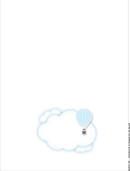 Passaporte Interno Balão de Ar Quente Azul Kit Festa