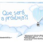 Plaquinha divertida Balão de Ar Quente Azul 10