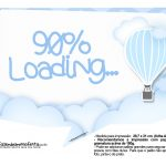 Plaquinha divertida Balão de Ar Quente Azul 11