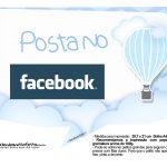 Plaquinha divertida Balão de Ar Quente Azul 16