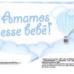 Plaquinha divertida Balão de Ar Quente Azul 5