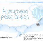 Plaquinha divertida Balão de Ar Quente Azul 7