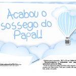Plaquinhas Balão de Ar Quente Azul 11