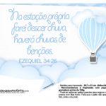 Plaquinhas para festa Balão de Ar Quente Azul