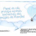 Plaquinhas para festa Balão de Ar Quente Azul 3
