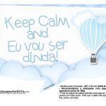 Plaquinhas Balão de Ar Quente Azul 5
