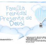 Plaquinhas Balão de Ar Quente Azul 6
