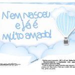 Plaquinhas Balão de Ar Quente Azul 9