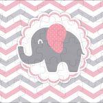Quebra cabeça Elefantinho Rosa e Cinza Chevron
