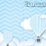 Revista Colorindo Balão de Ar Quente Azul Kit Festa