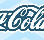 Rótulo Coca cola Balão de Ar Quente Azul