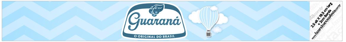 Rótulo Guarana Caçulinha Balão de Ar Quente Azul