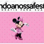 Rotulo Lápis Minnie Rosa Kit Festa
