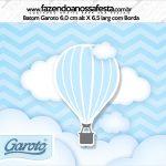Rótulo Mini Baton Garoto Balão de Ar Quente Azul