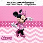 Rotulo Mini Baton Garoto Minnie Rosa