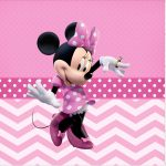 Rotulo Mini Confeti Minnie Rosa