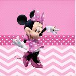 Rotulo Mini Confeti Minnie Rosa