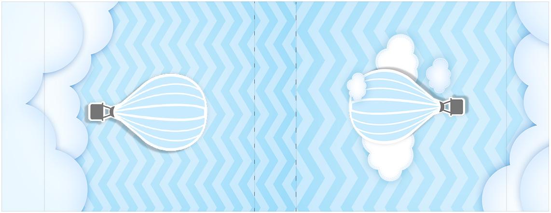 Rótulo Mini Talento Balão de Ar Quente Azul