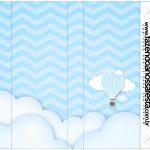 Rótulo Nescau Balão de Ar Quente Azul