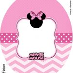 Rotulo Tubete Oval Minnie Rosa