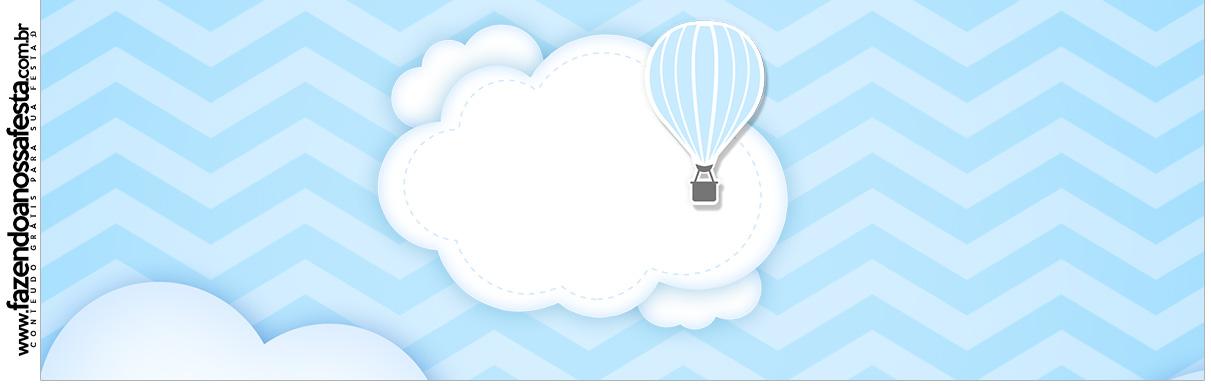Rótulo para Squezze Balão de Ar Quente Azul