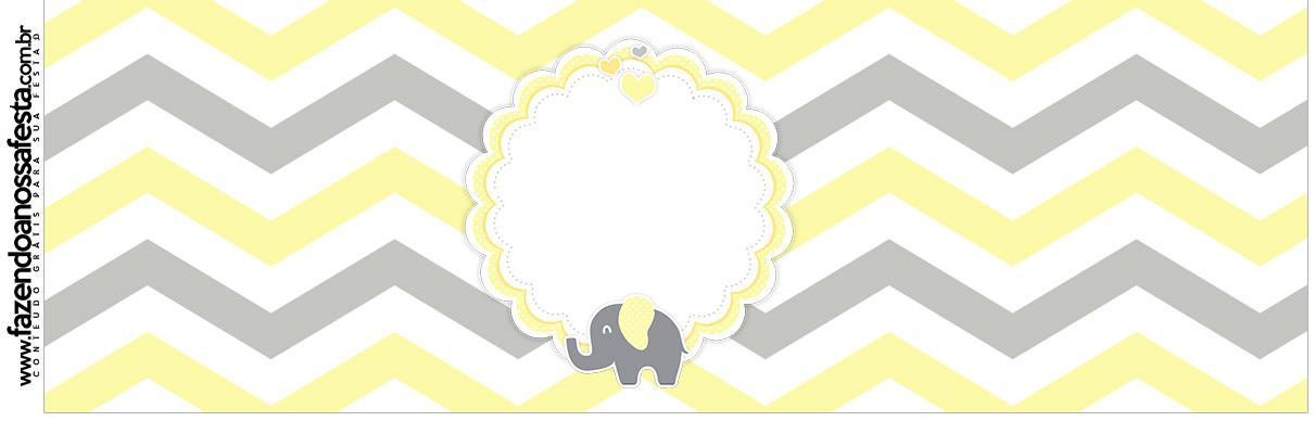 Rotulo para Squezze Elefantinho Chevron Amarelo e Cinza