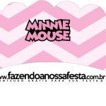 Saias Wrappers para Cupcakes 2 Minnie Rosa Kit Festa