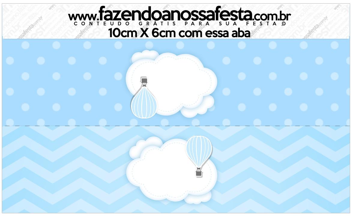 Saquinho de balas Balão de Ar Quente Azul Kit Festa