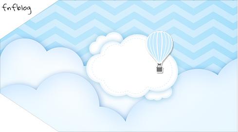 Tag Agradecimento Etiqueta Balão de Ar Quente Azul Kit Festa