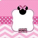 Tag Agradecimento Etiqueta Minnie Rosa Kit Festa