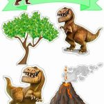 Topo de Bolo de Papel Dinossauro