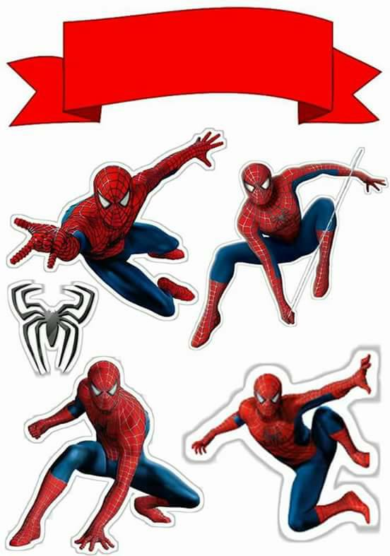 Topo de Bolo de Papel para Imprimir Homem Aranha