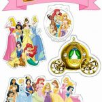 Topo de Bolo de Papel Princesas Disney