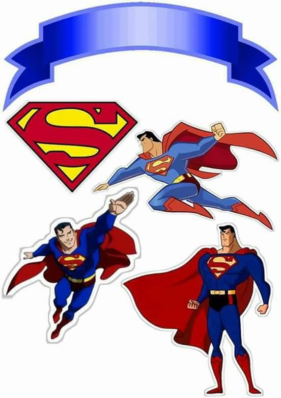 Topo de Bolo de Papel Super Man