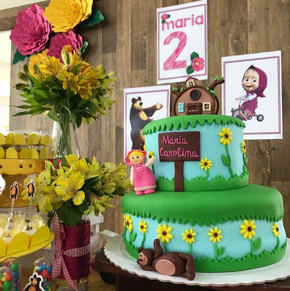 Créditos: @atelieartedocemania anapatriciasilveira Ideias para Festa Infantil Masha e o Urso