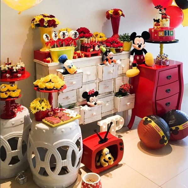 Créditos: @brigadeiricesfestas Festa Mickey Mouse
