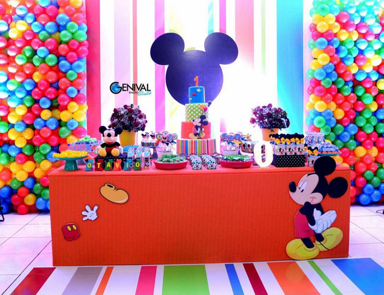 Créditos: @buffetmulteventos ticianabrandao Ideias para Festa Mickey Mouse