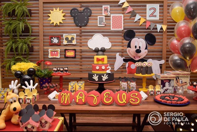 Créditos: @colinaparkfestas Festa Mickey Mouse