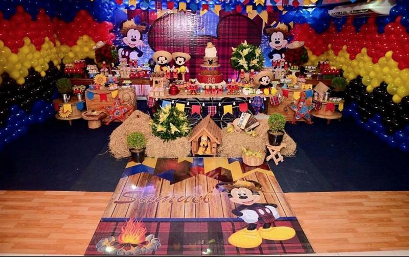 Créditos: @encantarte_decoracoe Festa Mickey Mouse