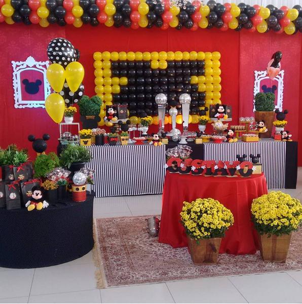Créditos: @espacoartefestasbd Festa Mickey Mouse