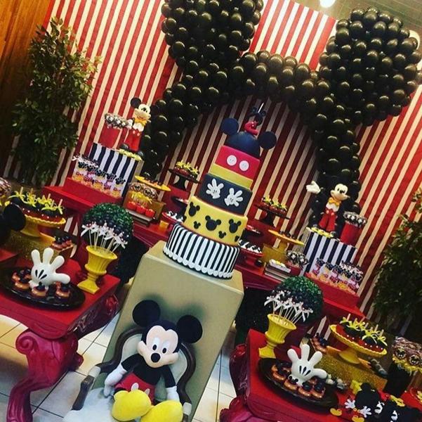 Créditos: @evertonolivsantana Festa Mickey Mouse